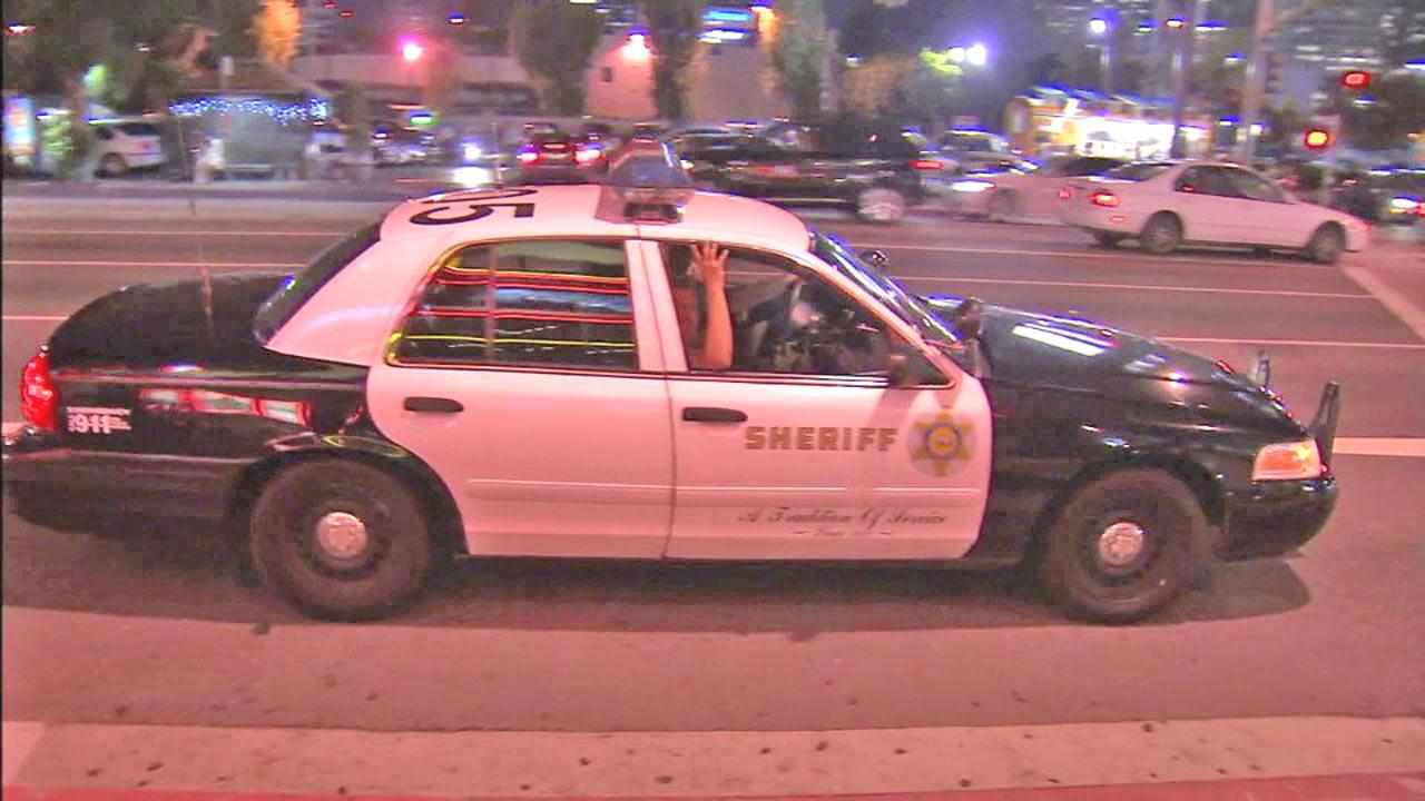 A Los Angeles County Sheriffs Department patrol car is seen in this undated file photo.