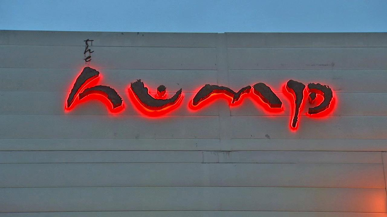 The sign for the now-closed Hump restaurant in Santa Monica is shown in this undated file photo.