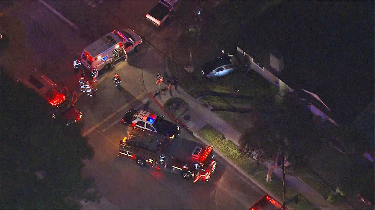 A driver slammed her car into a house in Temple City on Tuesday, Feb. 26, 2013.