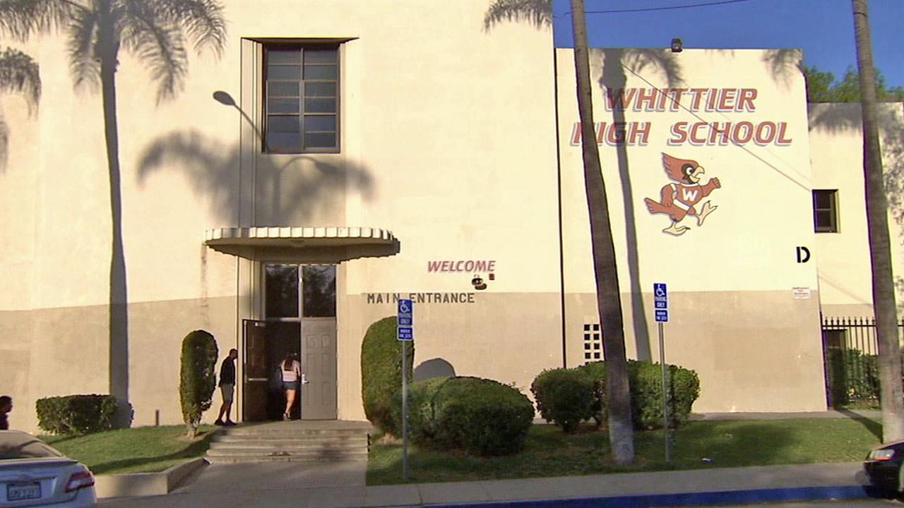 Whittier High School is shown in this undated file photo.