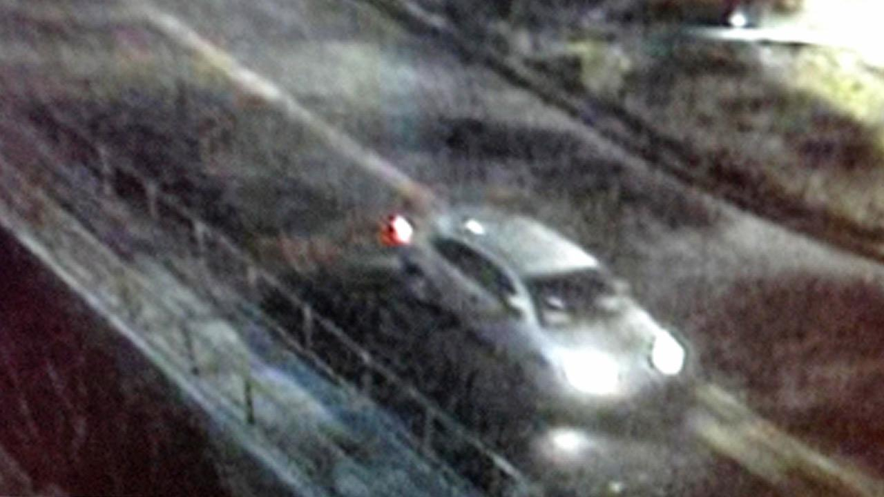 This surveillance still image shows the getaway car used in a burglary involving luxury handbags and accessories from a Neiman Marcus store in Woodland Hills on Thursday, March 7, 2013.