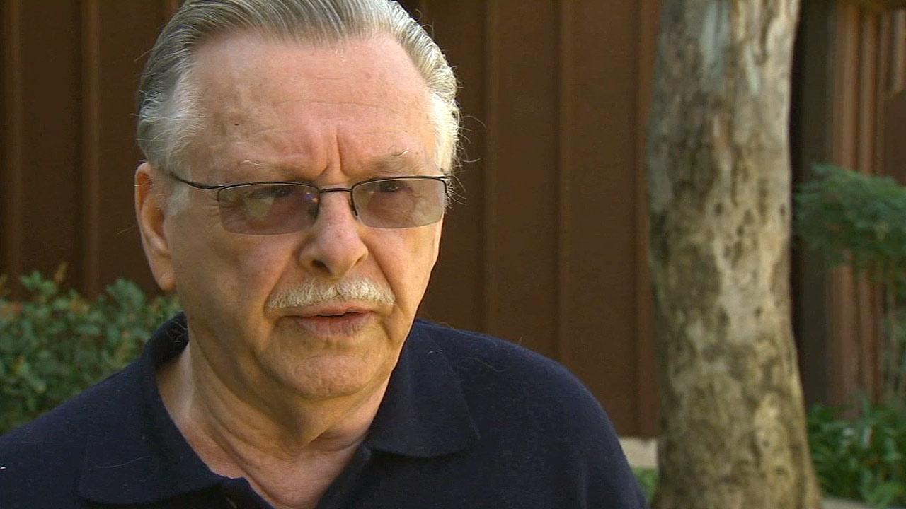 Udo Strutynski, who says he survived three years of abuse at the hands of a priest in Los Angeles in the 1950s, in an interview with Eyewitness News on Wednesday, March 13, 2013.