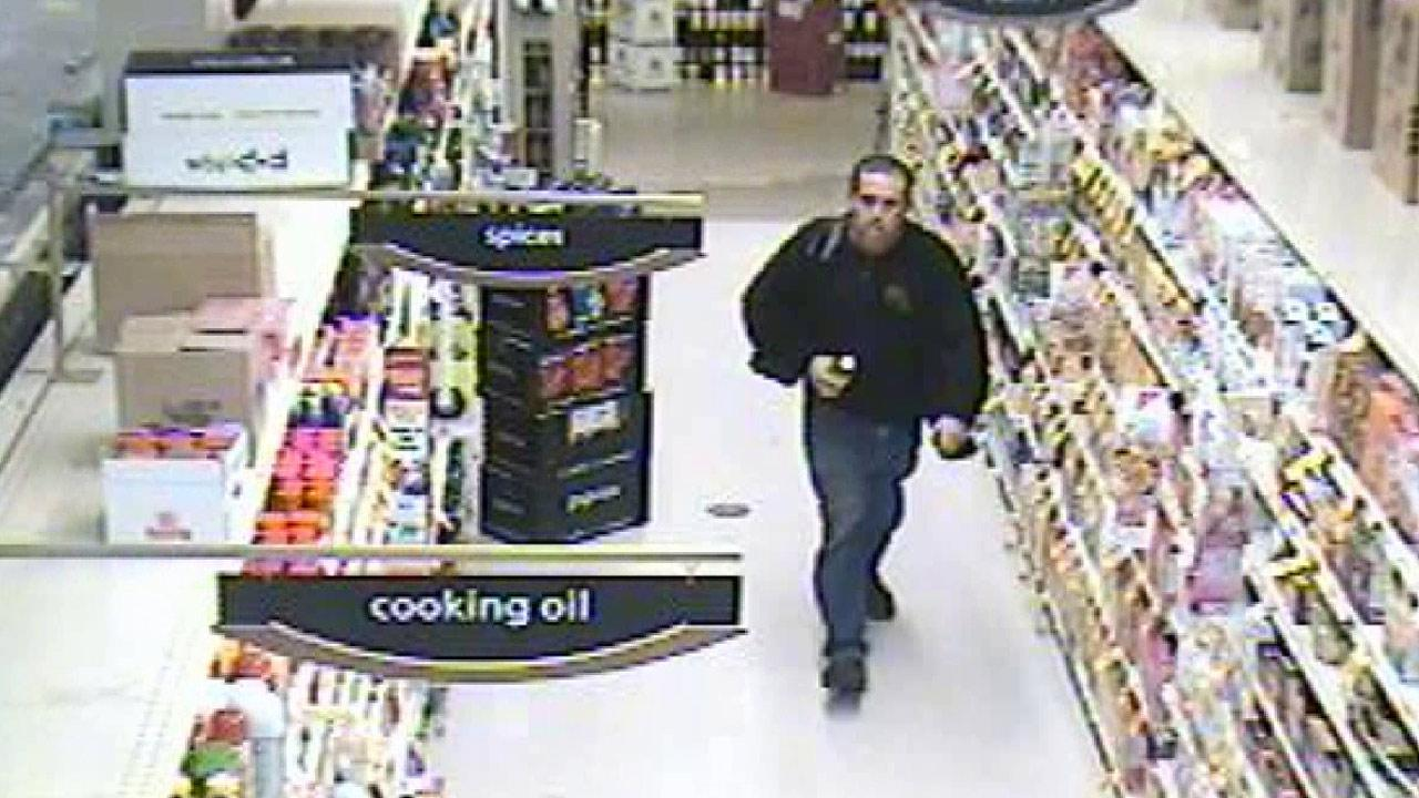 A sexual battery suspect is shown in a surveillance still image taken from a Pavilions market on the 9400 block of Olympic Boulevard in Beverly Hills.
