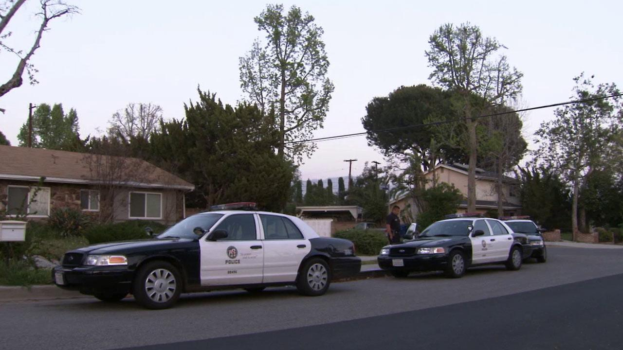 Police were called to the 11500 block of Bonham Avenue in Lakeview Terrace after a 3-year-old girl nearly drowned in a backyard pool on Saturday, March 16, 2013.