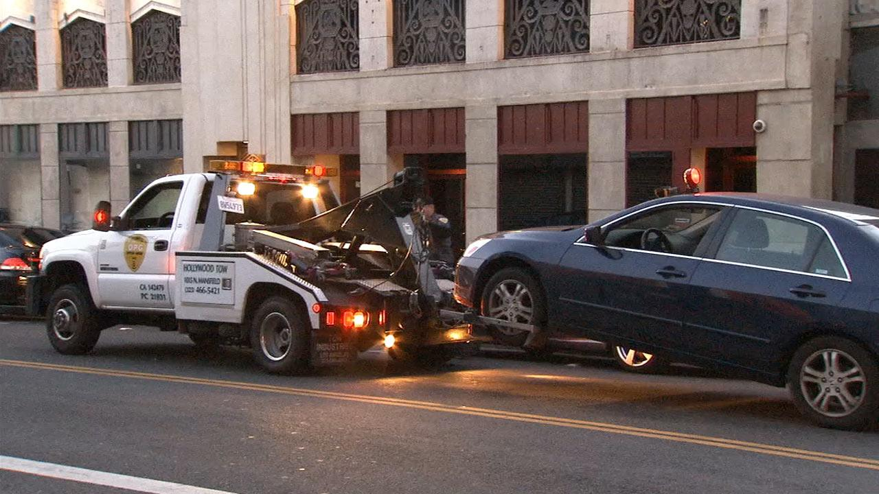 A man was arrested after leaving his young child locked in his car in Hollywood, then reporting the car missing on Saturday, March 30, 2013.