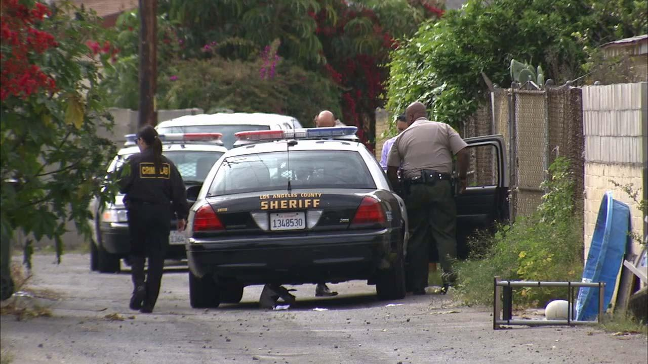 Sheriffs deputies discovered a mans body on the 4800 block of Layman Avenue in Pico Rivera Sunday, March 31, 2013.