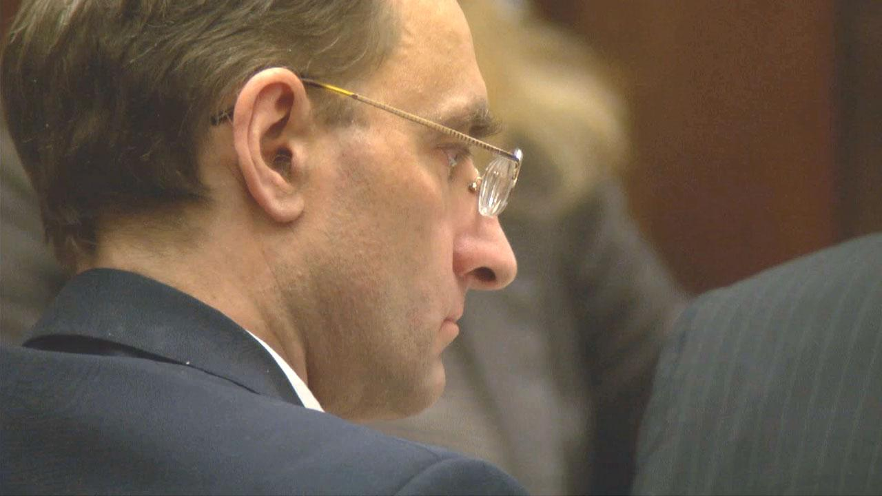 Christian Gerhartsreiter, the Clark Rockefeller impersonator, appears during his murder trial in 2013.