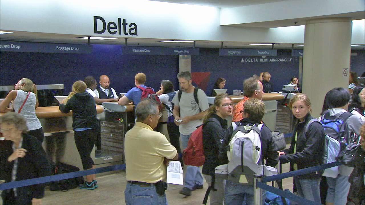 Delta Air Lines and LA Mayor Antonio Villaraigosa announced a $229 million renovation project at LAXs Terminal 5 Thursday, April 4, 2013.