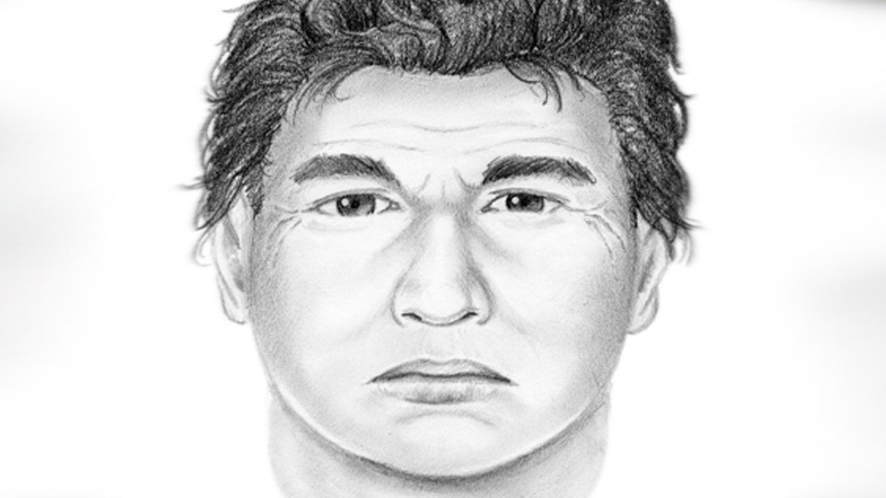 Detectives have released this composite sketch of a man seen blowing kisses to school children while sitting in his truck near Plummer Elementary School in North Hills.