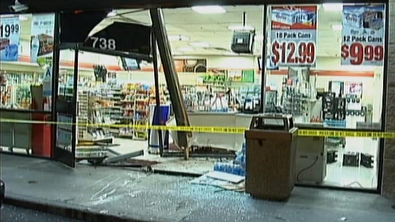 A 16-year-old boy crashed into a 7-Eleven in the 700 block of East Holt Avenue in Pomona on Wednesday, May 8, 2013.