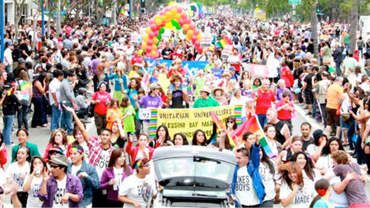 The L.A. Pride Parade is shown in this image from the L.A. Pride Celebration website.