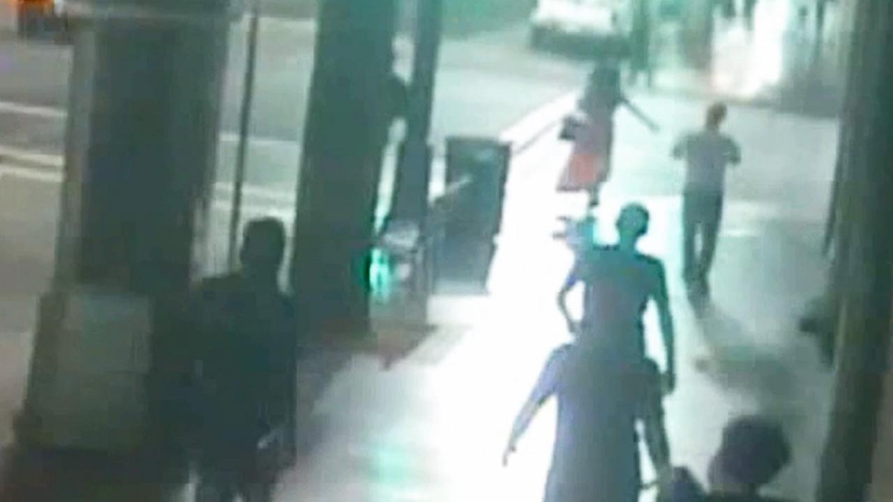 Police released dramatic surveillance video showing a vicious attack on a transgender woman on a Hollywood sidewalk on May 31, 2013.