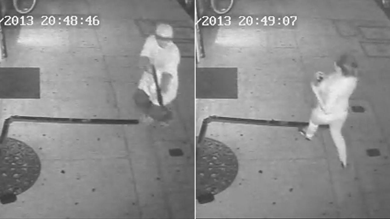 (Left) Police released an image from surveillance video of the gunman who killed a store owner in Panorama City on Monday, July 8, 2013. (Right) Detectives released an image of a woman seen entering a tattoo shop immediately following the shooting.