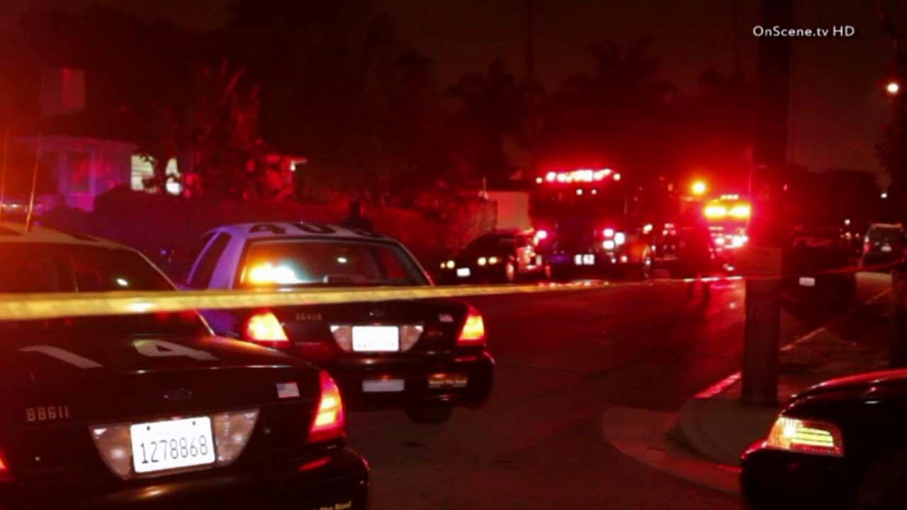 An investigation is underway on the 4600 block of Braddock Drive in the Del Rey area of Los Angeles after a man was found shot to death inside his car Saturday, August 17, 2013.
