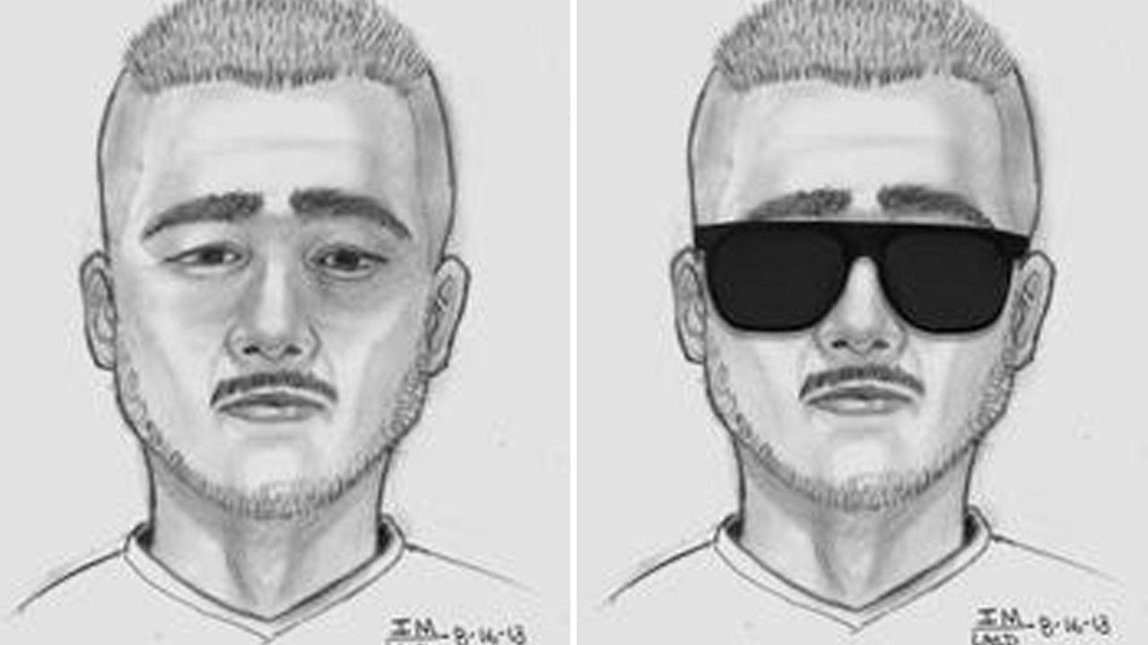 Authorities released this composite sketch of a suspect they said tried to lure an 11-year-old girl into his car near Avenue K and Challenger Way in Lancaster on Thursday, August 15, 2013.