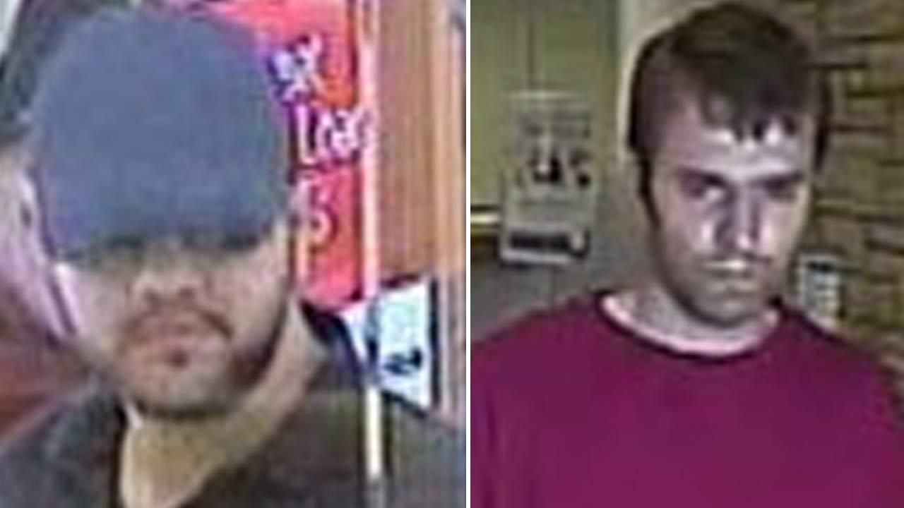 A bank robber suspect nicknamed the Valley Bandit is shown in a surveillance image on the left.