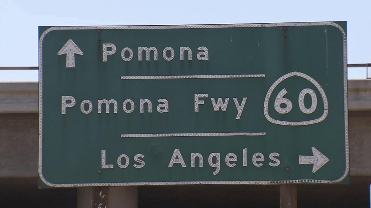 A sign for the 60 Freeway is seen in this undated file photo.
