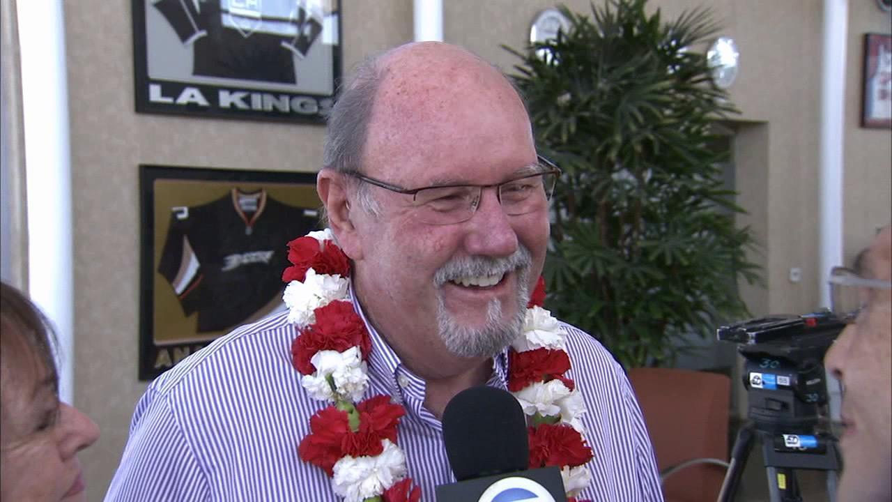 John Odom talks to Eyewitness News at Los Angeles International Airport on Friday, Sept. 6, 2013.