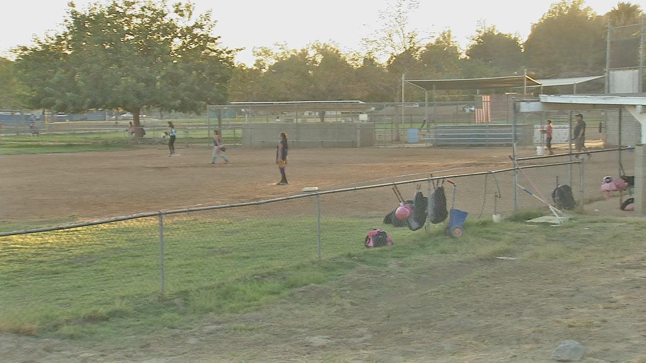 Thieves walked away with thousands of dollars worth of equipment from a childrens softball league in Sylmar.