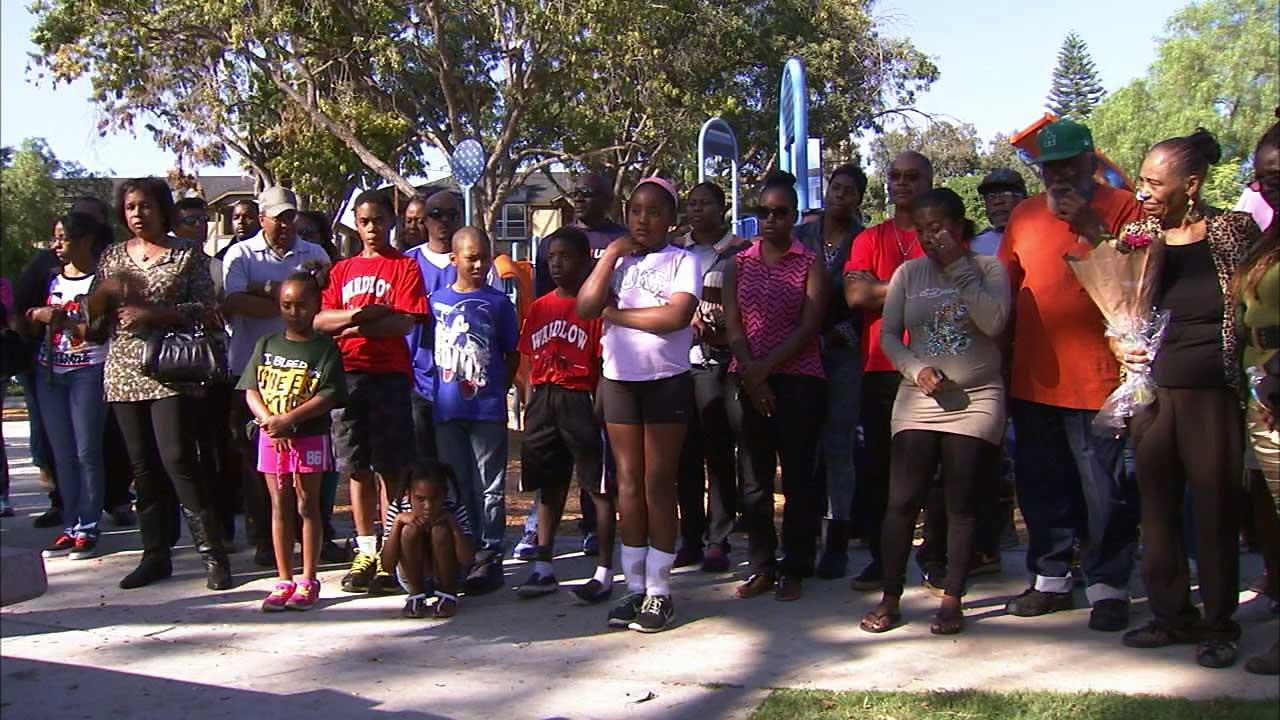 A vigil was held at Orizaba Park near Spaulding Street and Orizaba Avenue in Long Beach to honor 53-year-old Kellye Taylor on Saturday, Oct. 12, 2013.