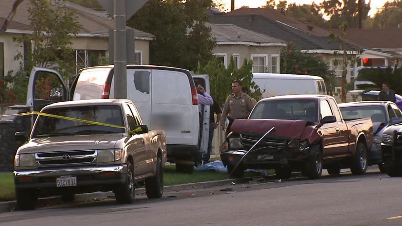 A man was shot and killed while driving in the 6000 block of Main Street in South Gate Sunday, Oct. 13, 2013.
