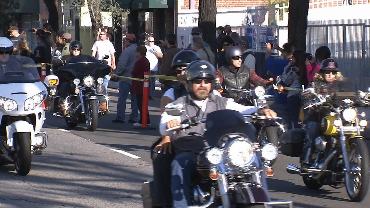 Motorcycle riders are seen participating in the 30th annual Love Ride on Sunday, Oct. 20, 2013.