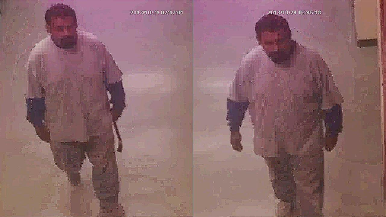 A suspect was caught on surveillance camera breaking into the North Torrance post office building located at 18080 Crenshaw Boulevard between 1 a.m. and 3 a.m. on October 24.