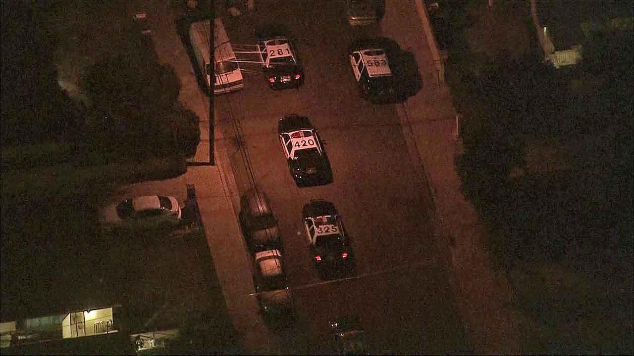 An investigation is underway in the 2400 block of Earle Avenue in Rosemead following a fatal deputy-involved shooting Friday, Nov. 15, 2013.