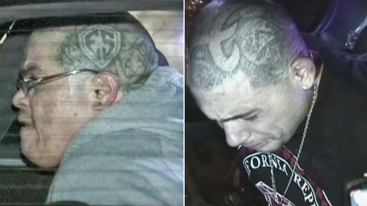 Two known gang members, seen in these photos, were taken into custody after they led officers on a chase, attempted to carjack an innocent bystander, and then took that person hostage in Lancaster on Tuesday, Nov. 26, 2013.