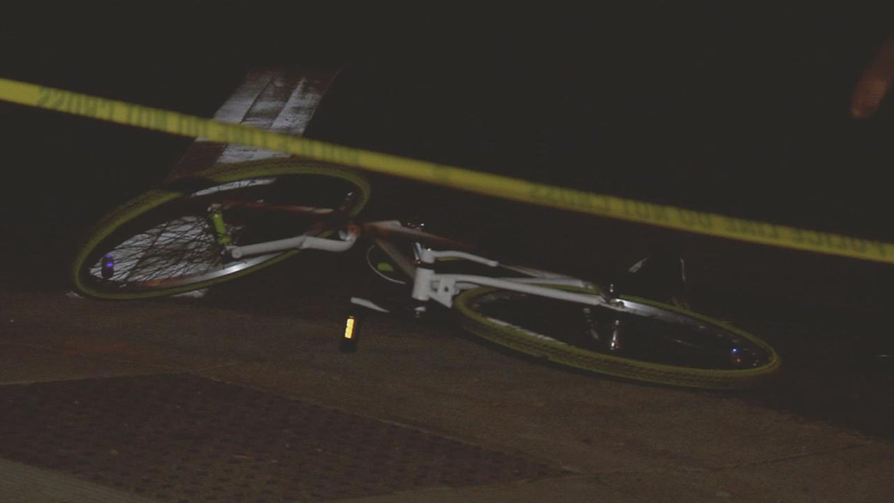 A 15-year-old boy on a bicycle was critically injured by a hit-and-run driver in Long Beach on Thursday, Nov. 28, 2013.