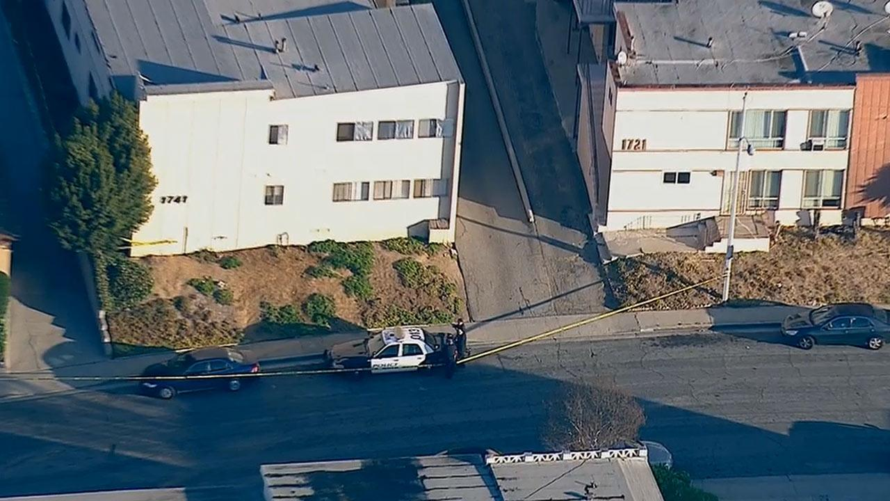 An investigation is underway after a body was found in Monterey Park about a block from East Los Angeles College on Friday, Dec. 13, 2013.