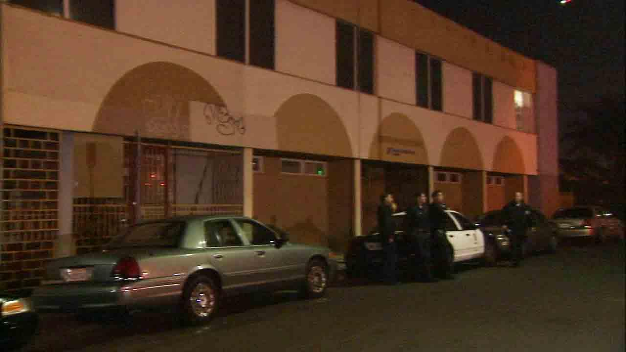 An armed suspect barricaded himself inside a residence on the 200 block of West 85th Place in South Los Angeles Saturday, Dec. 28, 2013.
