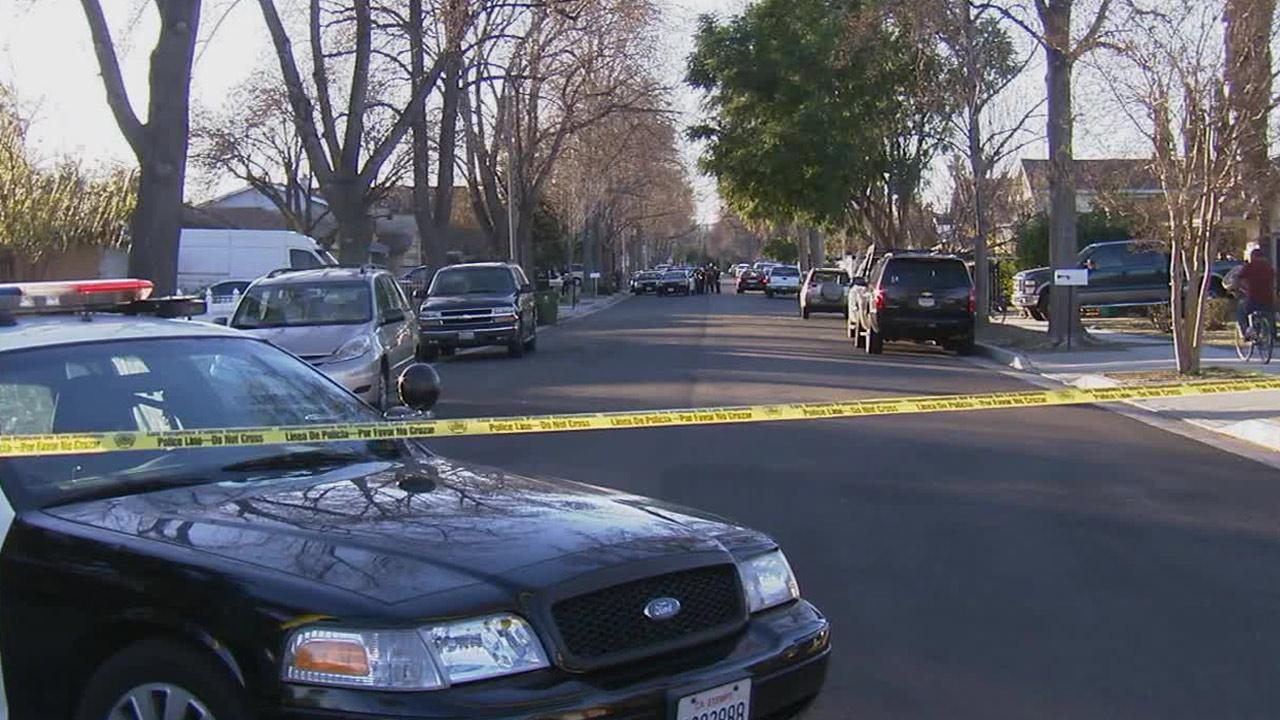 Police investigate an officer-involved shooting in Winnetka on Sunday, Dec. 29, 2013.