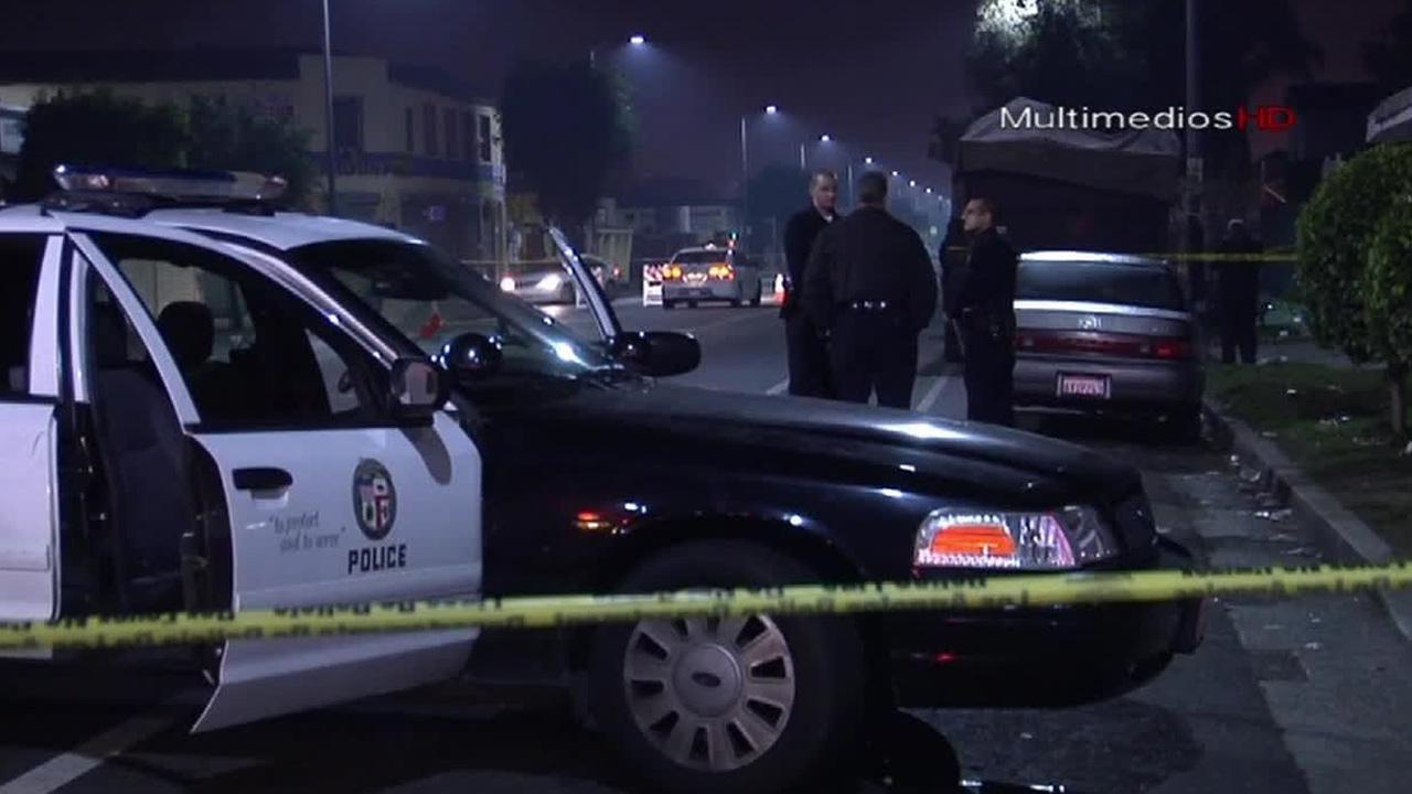 An investigation is underway after a gunman shot and killed a man riding his bicycle in South Los Angeles Sunday, Jan. 5, 2014.