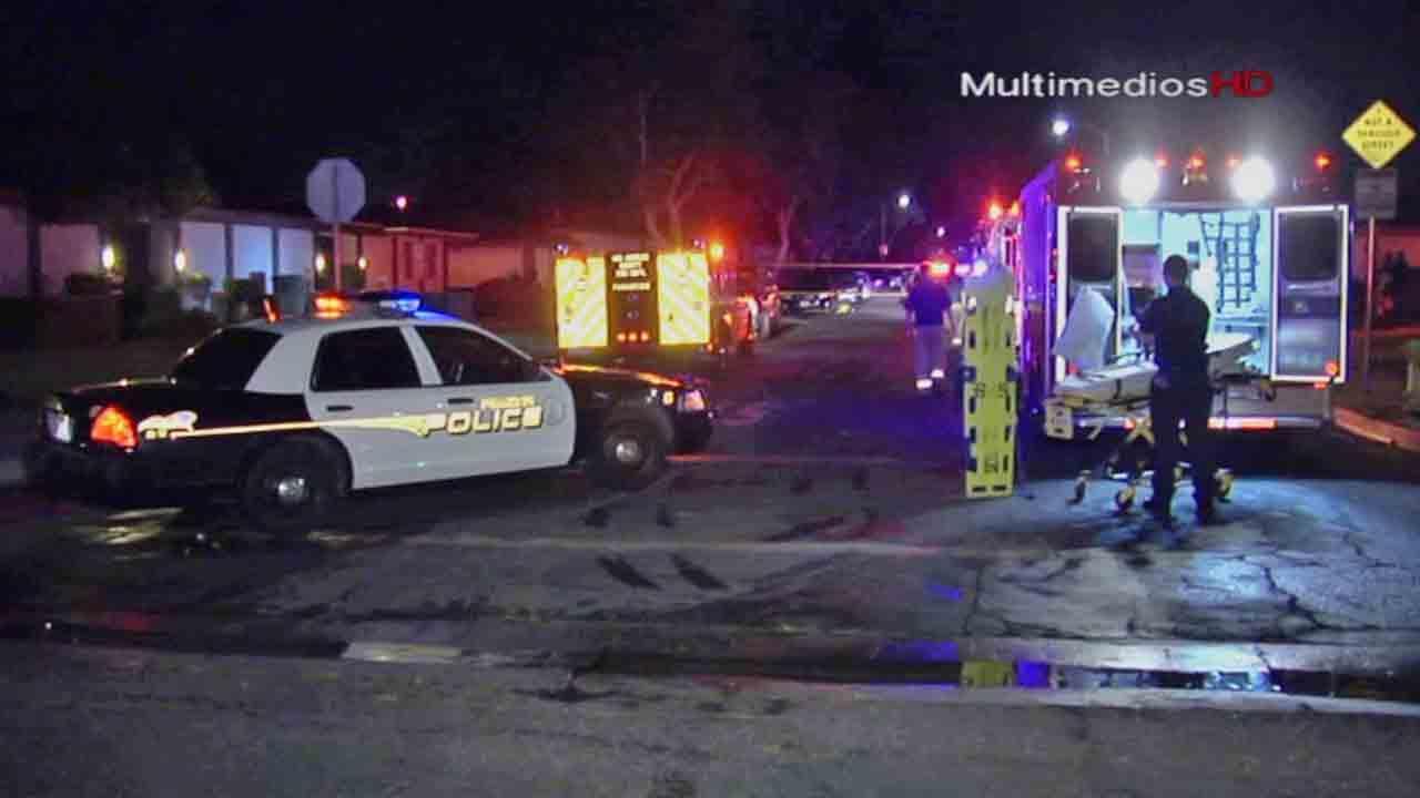 Pomona police respond to the scene of crime.