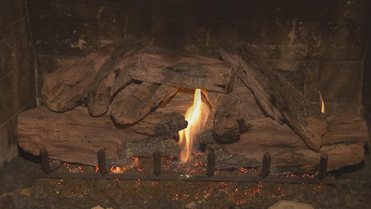 A fireplace is seen in this undated file photo.