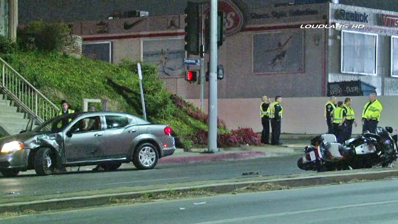 Los Angeles Car Accident: LAPD Motorcycle Officer Injured In Car Van Nuys Accident