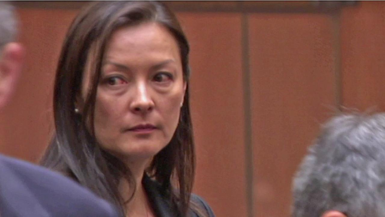 Kelly Soo Park, found not guilty in 2013 of the murder of a 21-year-old aspiring model, is shown in court on Wednesday, Oct. 17, 2012. Park is now suing the city of Santa Monica.