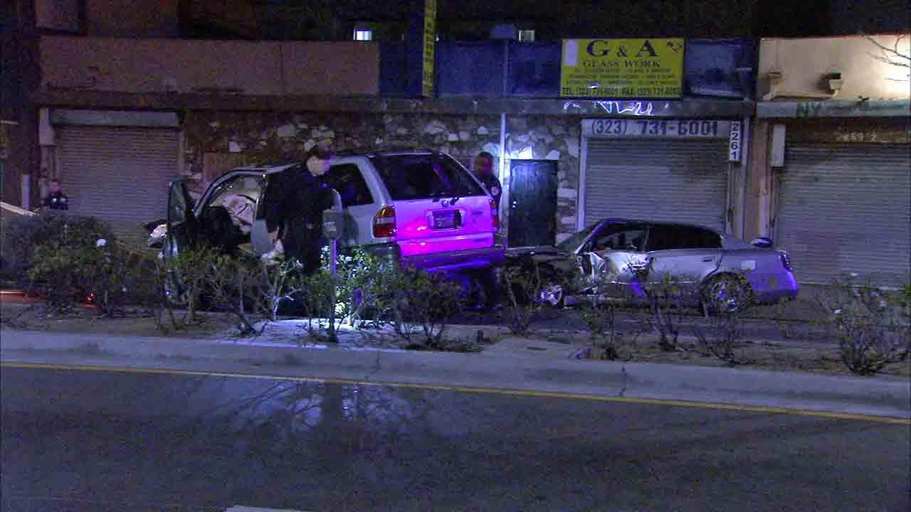 Seven people including children were injured following a head-on crash on the 2200 block of West Washington Boulevard Saturday, Jan. 25, 2014.