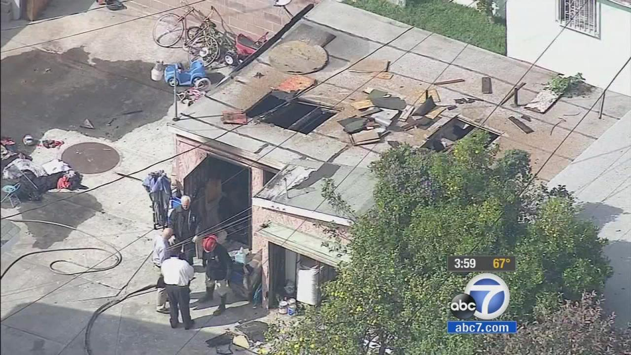 An investigation is underway into a fatal fire in a converted garage in Los Angeles on Wednesday, March 5, 2014.