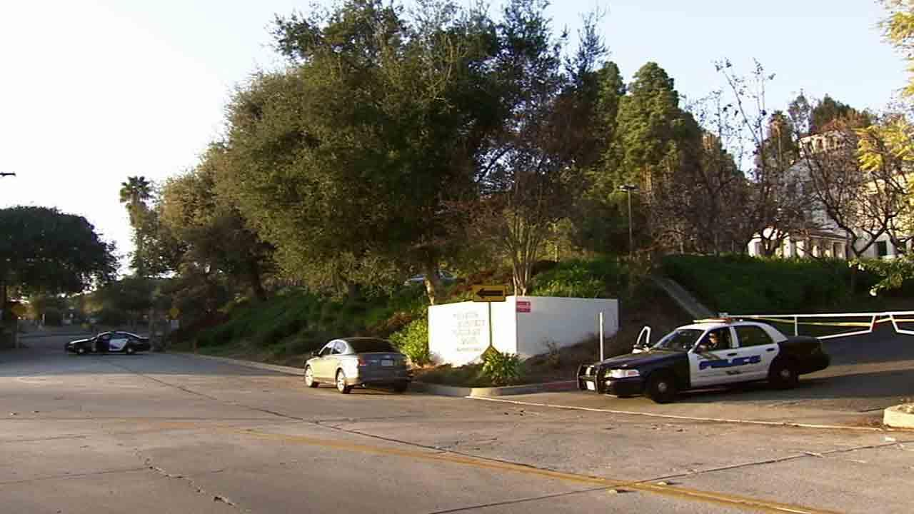 Police respond to the area near Sunset Canyon and Orange Grove in Burbank regarding a stabbing call Saturday, March 15, 2014.