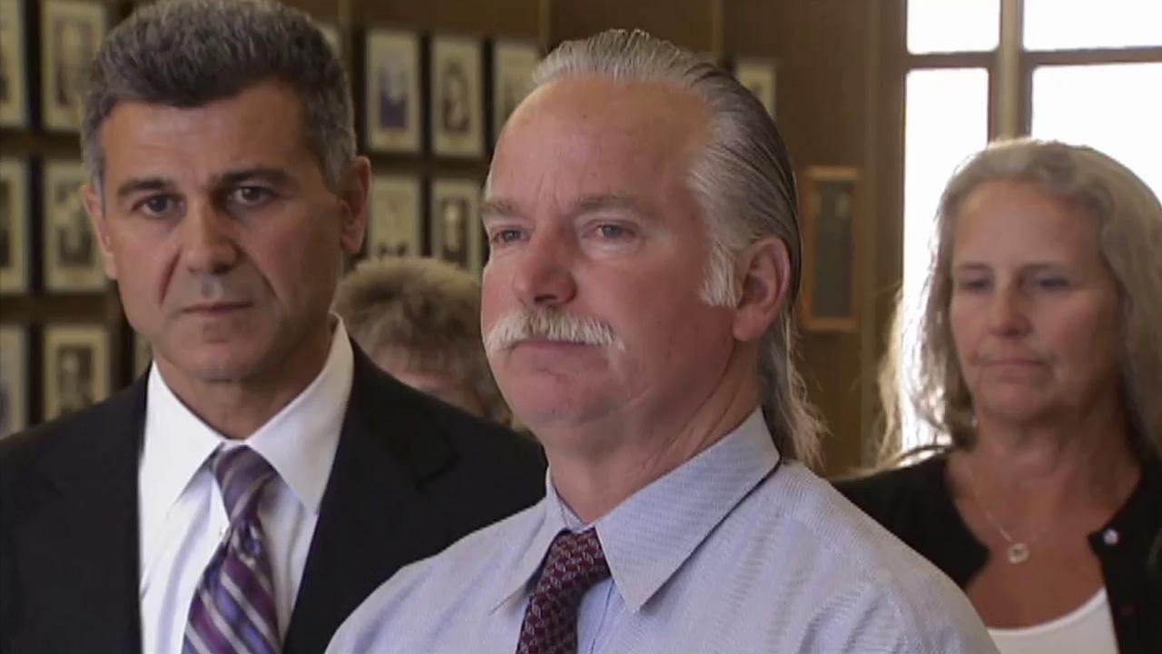 Ron Thomas, center, is seen in this 2012 file photo. Thomas son, Kelly Thomas, was killed following a violent altercation with Fullerton police.