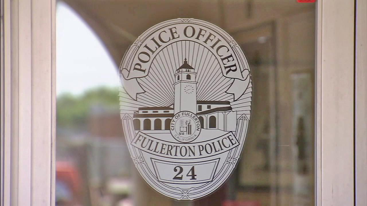 A symbol of the Fullerton Police Department is seen in this undated file photo.