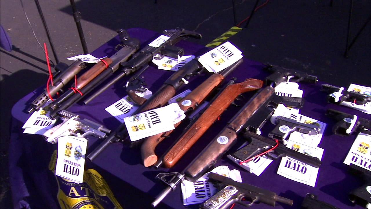 Authorities say 49 violent criminals from Anaheim were arrested on Friday, Aug. 10, 2012, for crimes ranging from drug trafficking to homicide.