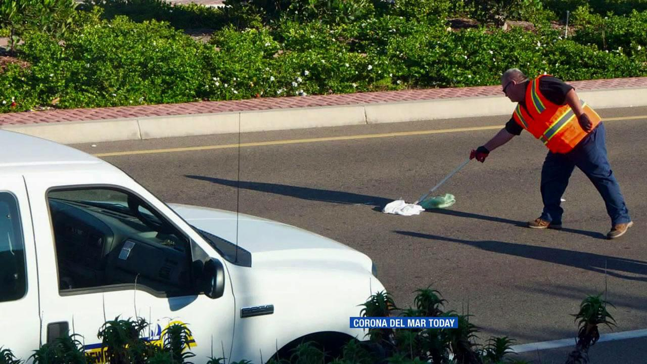 A dirty adult diaper is seen on MacArthur Boulevard on Thursday, Sept. 6, 2012.