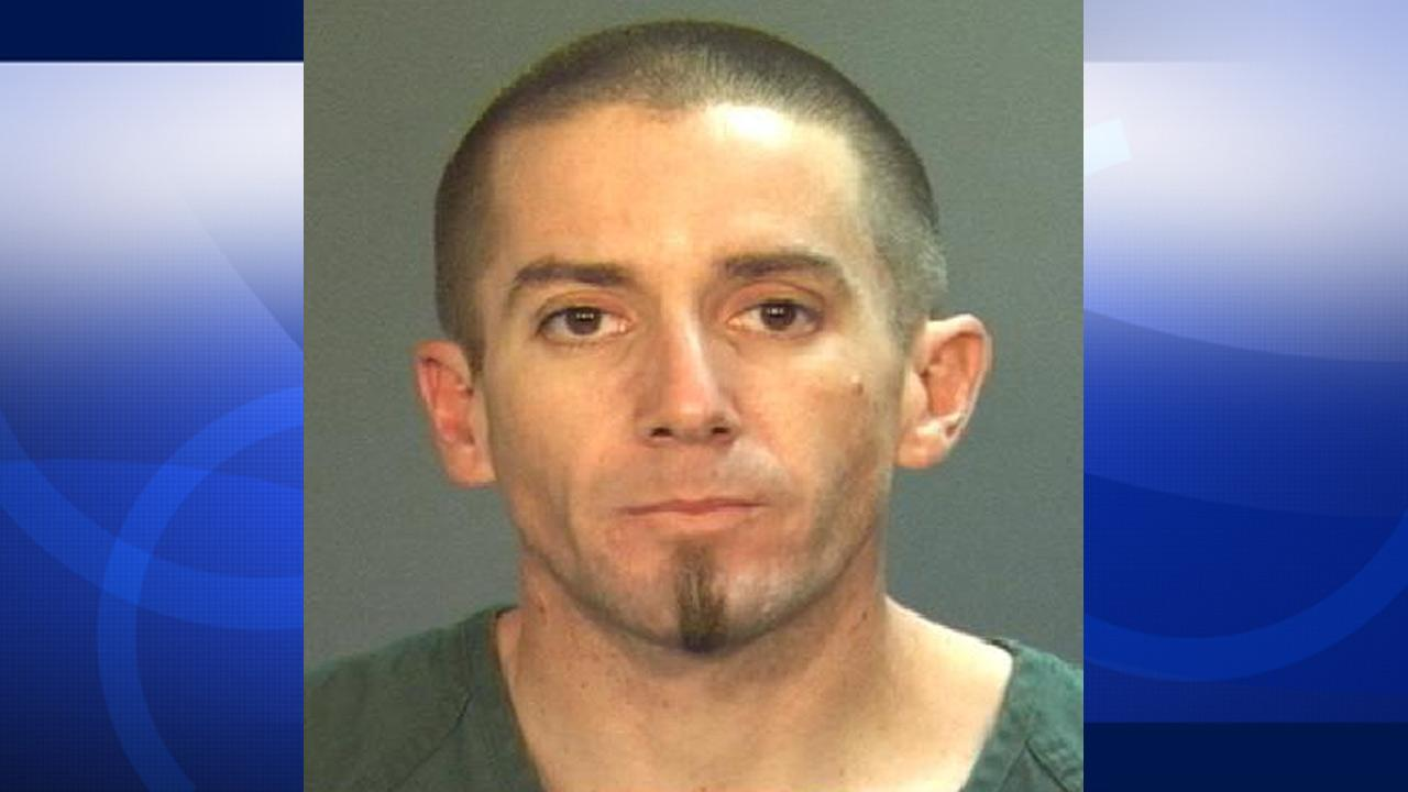 Jeffery Alan Lawing, 35, was arrested for grand theft and possession of burglary tools Wednesday, Oct. 10, 2012 on the roof of Santa Ana Restoration Church.