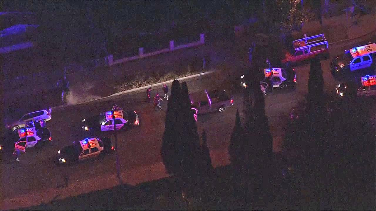 Authorities investigate an officer-involved shooting in Santa Ana on Tuesday, Nov. 13, 2012.