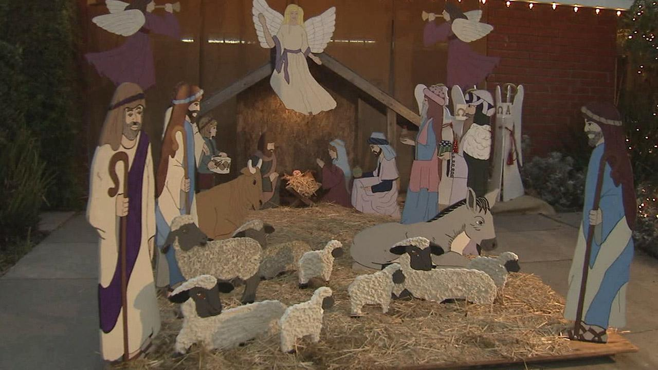 A Nativity Scene on the 1600 block of Woodstock Lane was vandalized on Sunday, Dec. 23, 2012, authorities said.