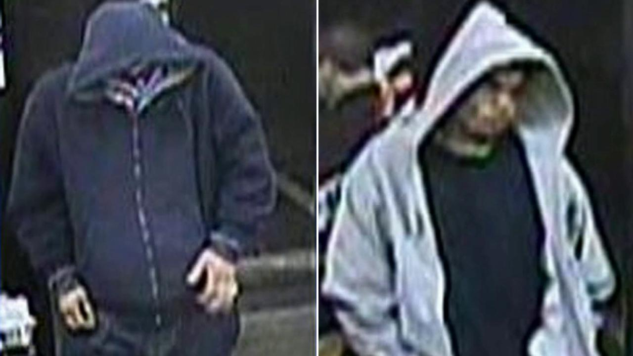 Surveillance still images show the suspects behind an armed robbery of a 7-Eleven in Anaheim on Thursday, Feb. 21, 2013.