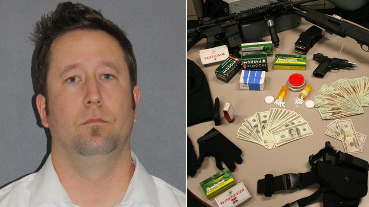 Anthony Risberg, 37, of Anaheim was arrested for sales and transportation of a controlled substance and a weapons violation by Irvine police on Friday, March 29, 2013.